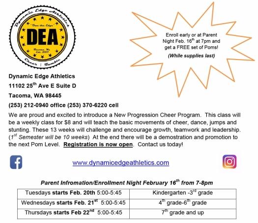 Cheer Progression Program Announcement